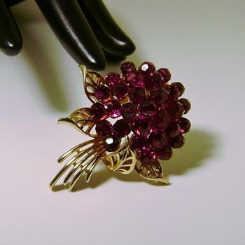 Trifari Nosegay Pin - Costume Jewelry