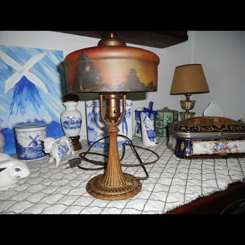 Painted table lamp - Lamps