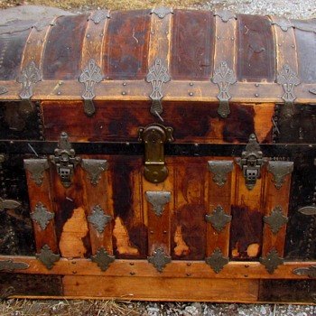Ornate Barrel Top Trunk - Furniture