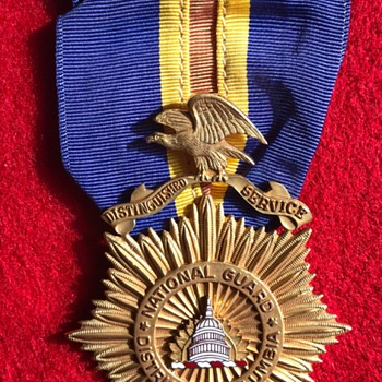 DC National Guard Gold Medals - Military and Wartime