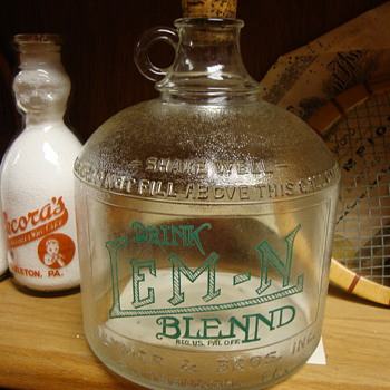 DRINK LEM - N BLENND Antique Gallon Jug - Bottles