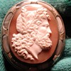 Huge Zeus cameo with pebble frame