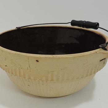 Milk Bowl - Brown Glaze Inside - Kitchen
