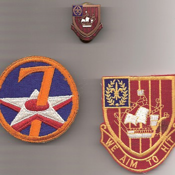251st Air Defense Artillery and The 7th Air Force Shoulder Patch - Military and Wartime