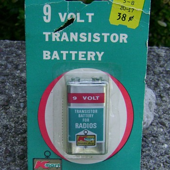 Vintage Kmart 9 Volt Battery For Transistor Radios - Advertising