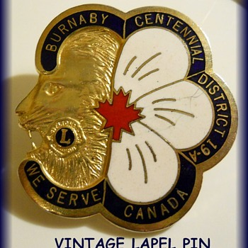 LAPEL PIN - LIONS Club ( Burnaby BC )  - Medals Pins and Badges