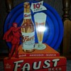 Faust Beer 1930's Die Cut Cardboard Anheuser-Busch