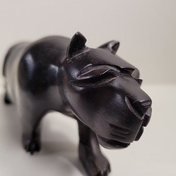 Wood Carved Panther - Folk Art