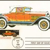 "1988 - ""1928 Locomobile"" - First Day Issue Stamped Card"