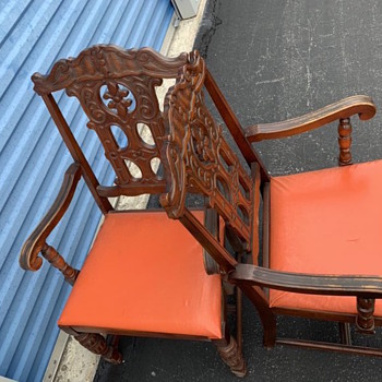 Carved  dining  chairs  - Furniture