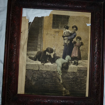 Framed newspaper clipping from 1878