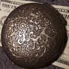 old silver compact case
