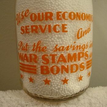 SWEET'S DAIRY...FREDONIA, N.Y. ..COP THE CREAM WAR SLOGAN - Bottles