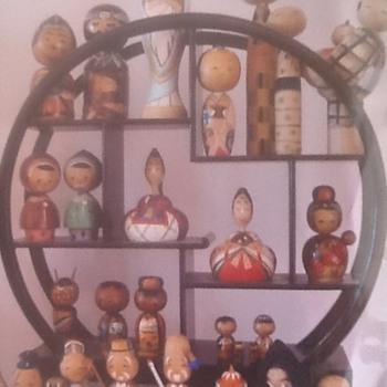1950s nodder kokeshi collection
