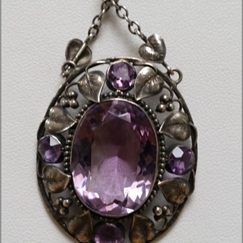 Arts & Crafts amethyst pendant in the style of Elsie Reeves? - Arts and Crafts
