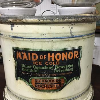 Maid Of Honor Drink Dispenser - Advertising