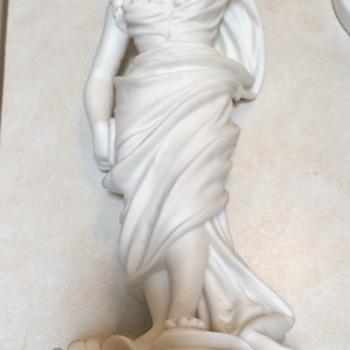 Antique Parian Ware Lady Figurine
