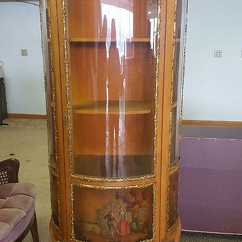 Vernis Martin Vitrine Curio Hand painted and Gilt from Spain - Furniture
