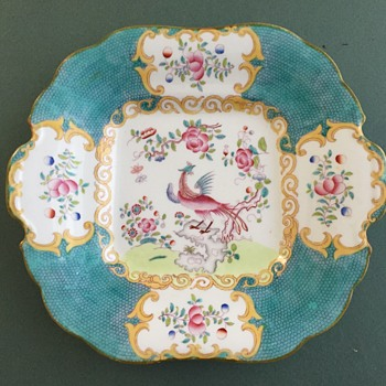 Victorian Mintons Cockatrice Cake Plate circa 1890 - China and Dinnerware