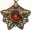 Victorian Pendant with Snake and Citrine Stone