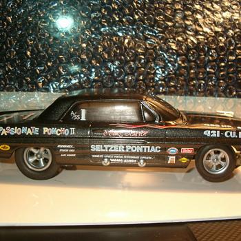 62 PONTIAC CATALINA ARNIE BESWICK MR B'S PASSIONATE PONCHO II 1/25TH SLOT CAR - Model Cars
