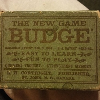 "1907 ""the new game budge"""