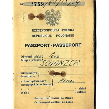 Passport issued for saving a Jewish man - Paper