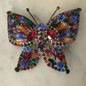 Huge butterfly brooch - Costume Jewelry