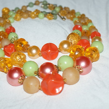 Vintage Plastic Necklace Made in Germay - Costume Jewelry