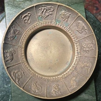 Zodiac Saucer marked 'Korea' - Asian