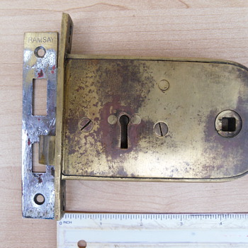 N F Ramsay Brass lock - Tools and Hardware