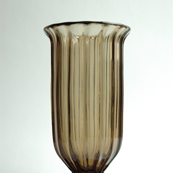french art deco smoked glass vase by DAUM - Art Deco