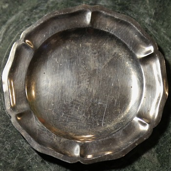 Small Sterling Plate - Silver