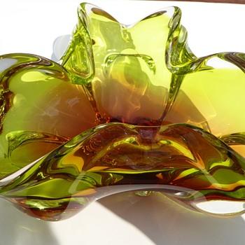 Chribska Glass Bowl - Art Glass