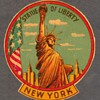 "1950's - Travel Decal ""Statue of Liberty - New York"""