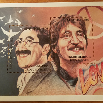 Republic of Abkhazia Marx & Lennon Stamp - Stamps