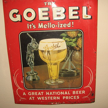 Goebel Beer Sign 1951 - Signs