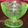 Green Depression Glass Sherbert Cups  By Jeanette