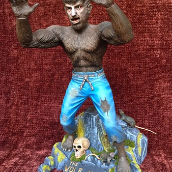 The Wolfman - Vintage Antique model from Aurora - Toys