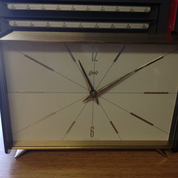 A Schatz Table Clock Made in Germany - Clocks