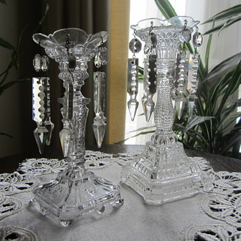 Pair of Candle Holders circa 1915 - Glassware
