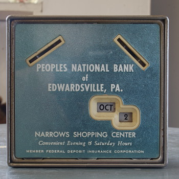 Gerret Calendar Bank...Peoples' National Bank of Edwardsville, PA - Advertising