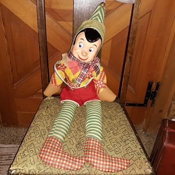 Vintage Elf Doll With Plastic Face Plus Find the Hidden Cat - Christmas