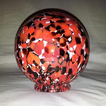 Stunning red/black/white globe