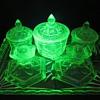 Uranium Glass Trinket Set