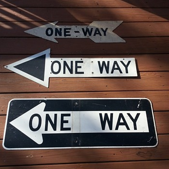 "Old ""ONE WAY"" signs from New York City - Signs"