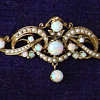 Victorian opal and seed pearl brooch