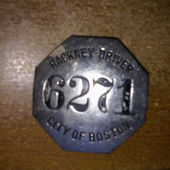"""City of Boston Hackney Carriage Driver"" Badges - Medals Pins and Badges"