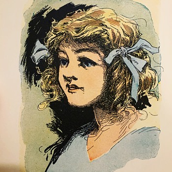 Dorothy Gale illustration by JR O'Neill, circa 1900s.  - Books