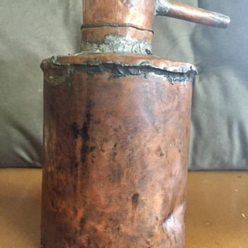 Primitive handmade copper lamp oil can? - Tools and Hardware